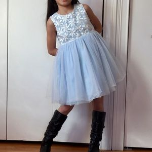Little girls fit & flare sleeveless dress